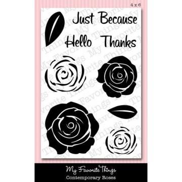 Blog Hop comment Prize MFT Contemporary Roses Stamp Set