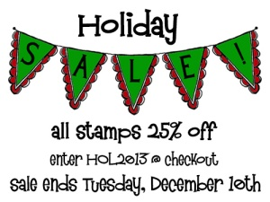 Holiday 2013 Sale blog