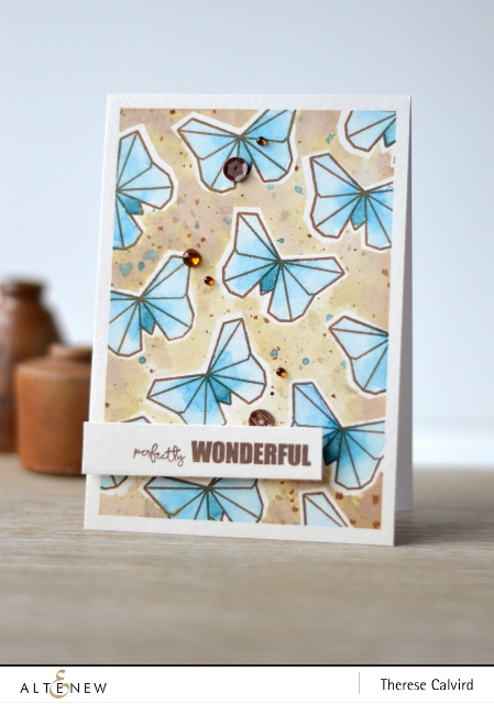 Altenew Ori Kami watercolor Butterfly card
