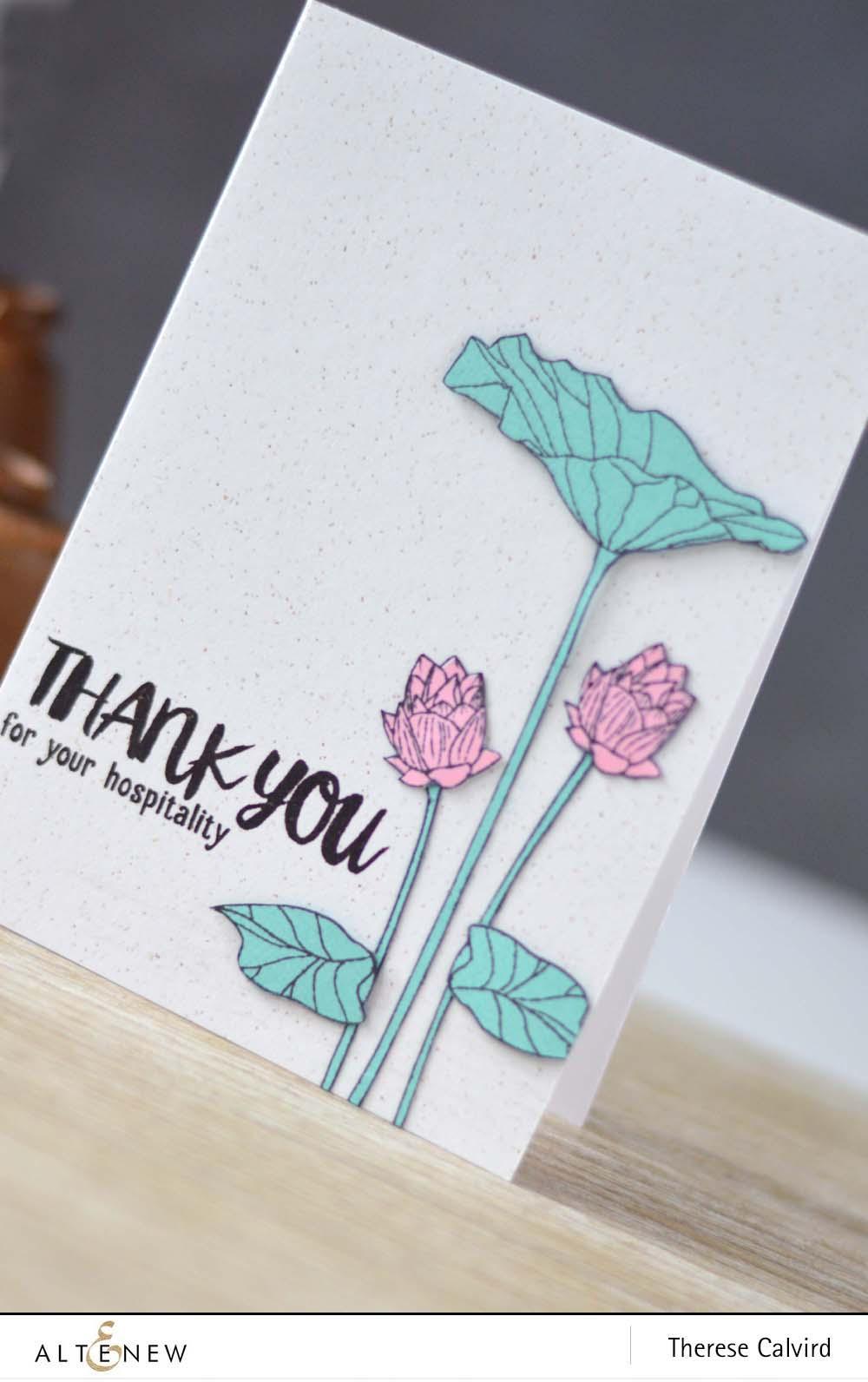 Cas Lotus Flower Video Altenew Blog