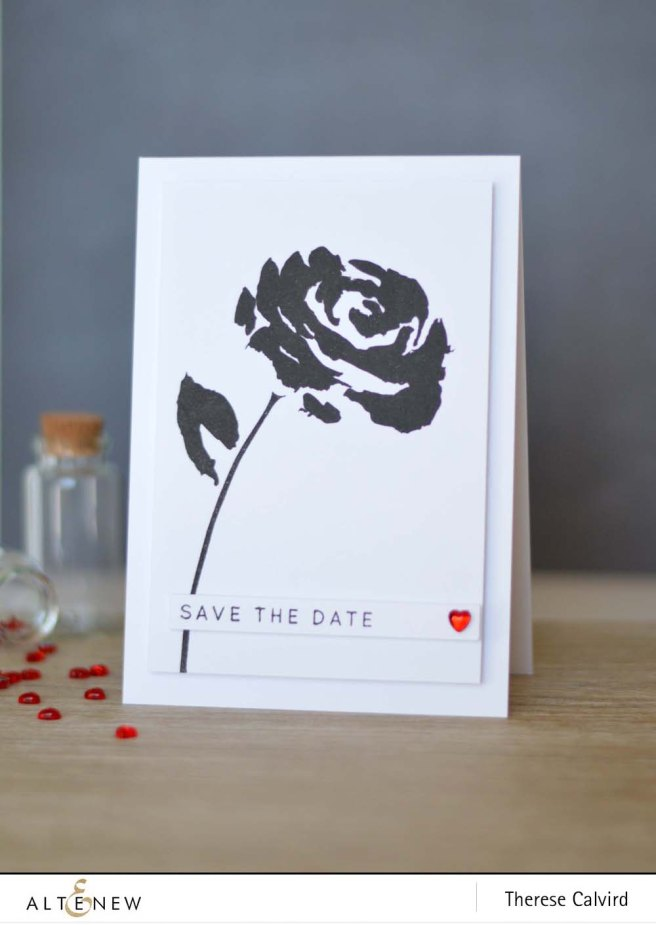 Altenew Painted Rose Save the Date copy