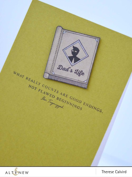 Altenew Best Dad cards with Beautiful Quotes and Best Mom CAS retro style set of cards
