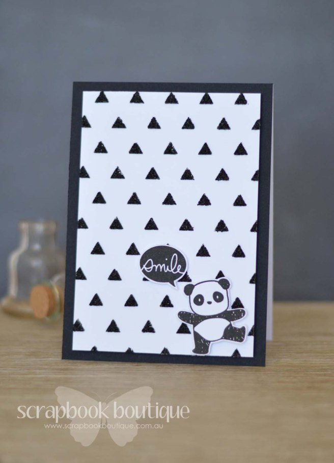 Lostinpaper - Mama Elephant Pandamonium / Everyday Greetings / Heidi Swapp triangle stencil