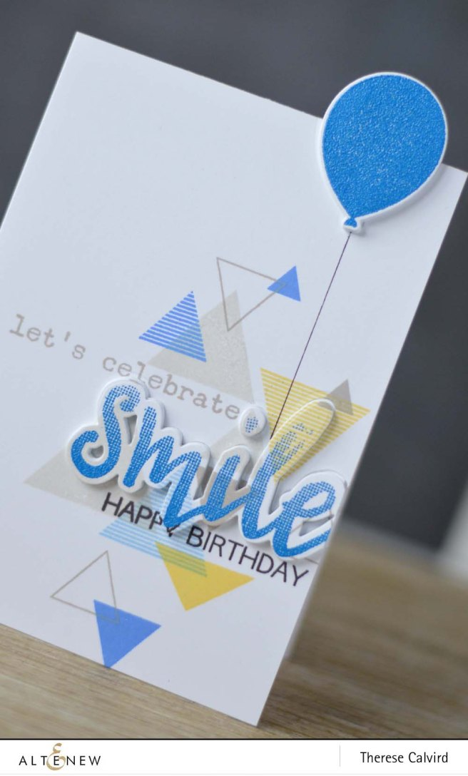 Altenew - Sohcahtoa - Halftone Smile - Birthday Greetings 1