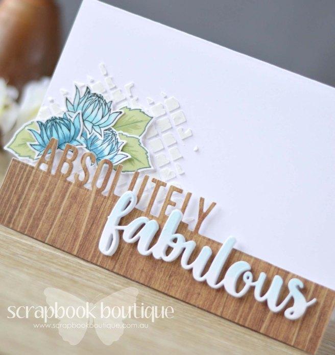 Lostinpaper - Scrapbook Boutique / Altenew - Dahlia / MFT - Absolutely Fabulous / Heidi Swapp - Minc Stencil Squares (video)