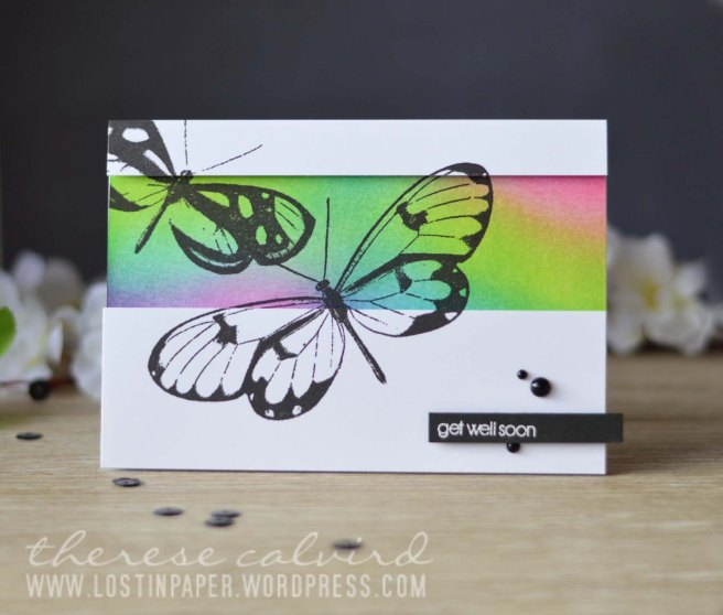 Lostinpaper - Penny Black - Butterfly Trio - Snippets Distress Ink Background (video)