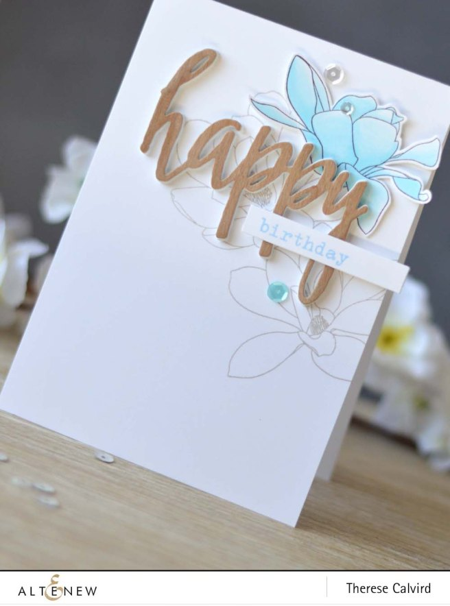 Lostinpaper - Altenew - Magnolias for Her - Birthday Greetings - Happy Die - Chameleon (video) (1) copy