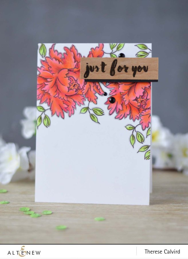 Lostinpaper - Altenew - Majestic Bloom - Painted Greetings card (video) 1 copy