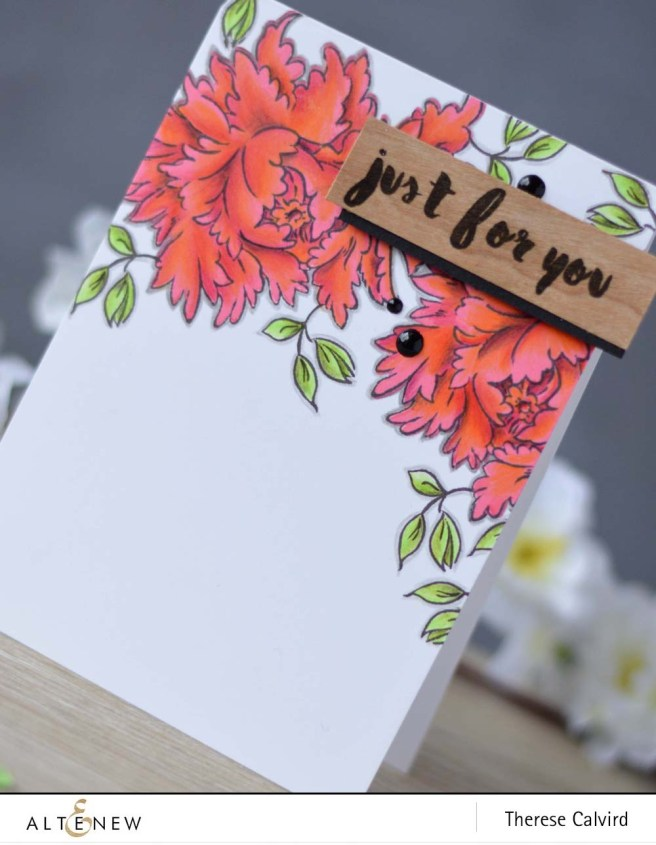 Lostinpaper - Altenew - Majestic Bloom - Painted Greetings card (video) 1 copy