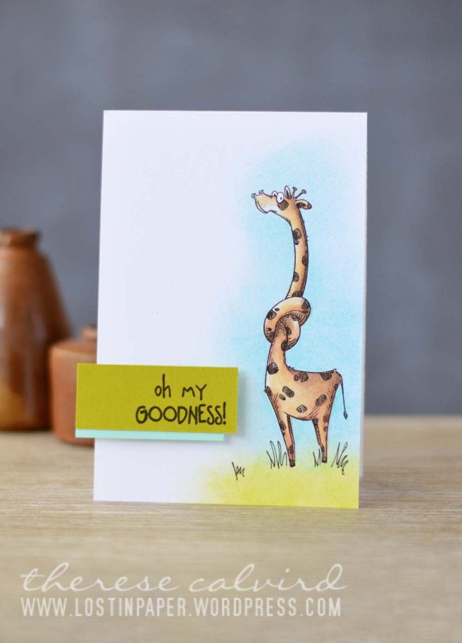 Lostinpaper - Cards4Men Katzelkraft / Les Jungles - Prismacolor Giraffe (video)