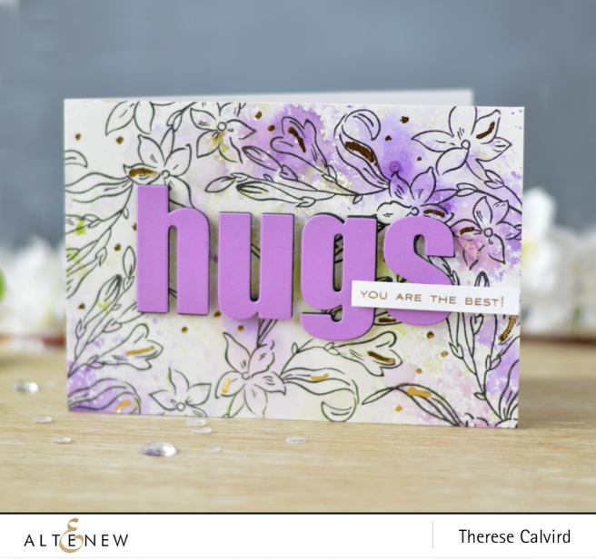 Altenew - Extra Special - Bold Alphabet Die - Lostinpaper (card) 1 copy