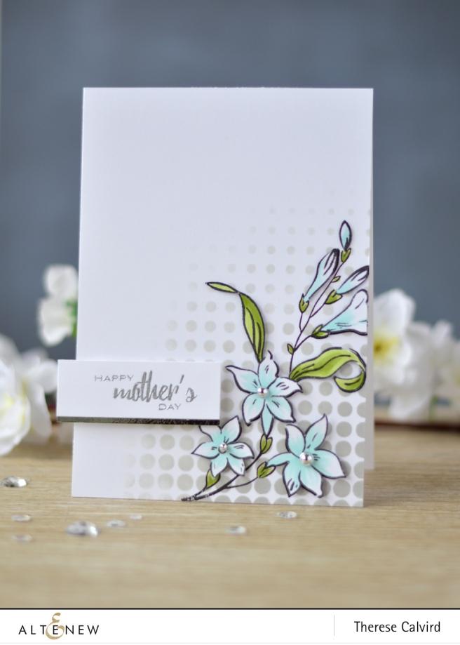 Altenew - Extra Special - Halftone Stencil - Lostinpaper (card) (1 copy