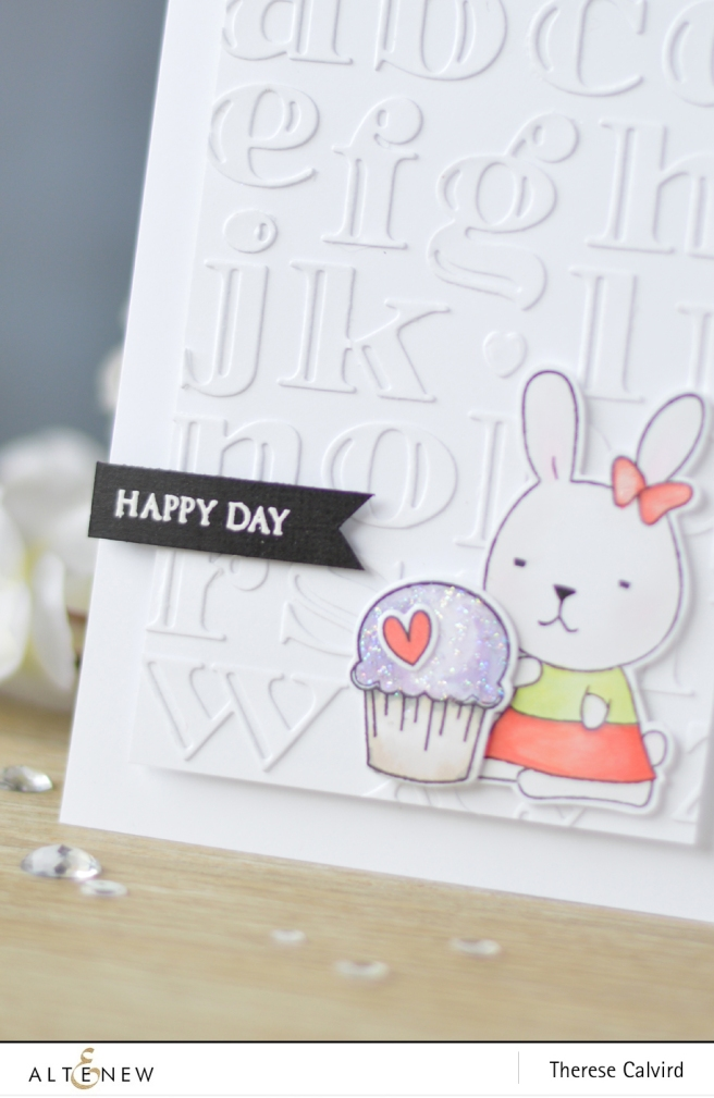 Altenew - Inline Alpha Die - Bunny Love - Lostinpaper (card) 1 copy