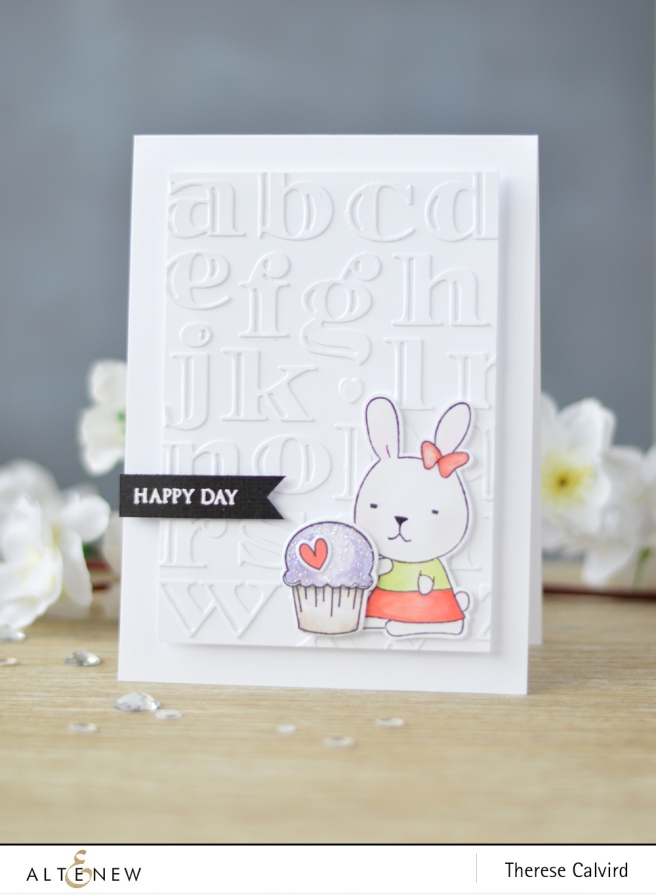 Altenew - Inline Alpha Die - Bunny Love - Lostinpaper (card) 1 copy