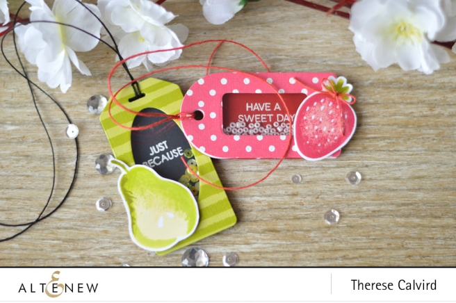 Altenew - Simple Fruits - Handmade Tags and Die (shaker tags) copy
