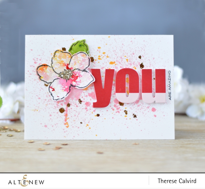 Lostinpaper - Altenew - Release - Ink Spray - Hibiscus Bouquet (card video) 1 copy