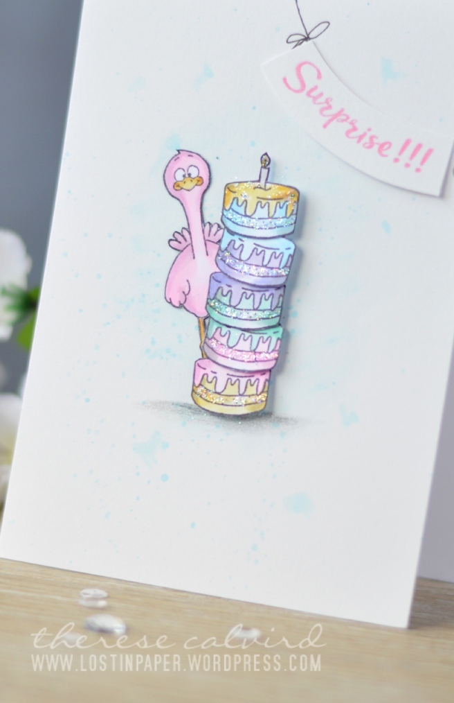 Lostinpaper - Gerda Steiner Designs - Party Animals - Moody Unicorns (card) 1