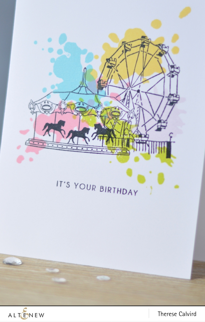Altenew - Carousel - Ferris Wheel - Celebrate - Lostinpaper (card) 1 copy