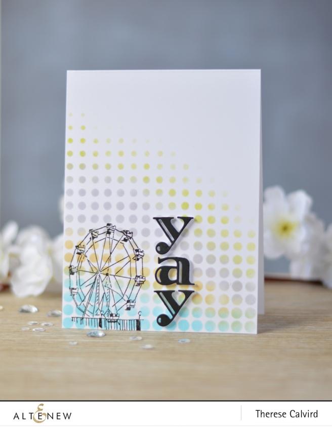 Altenew - Ferris Wheel - Halftone Stencil - Inline Alpha Die - Lostinpaper (card) 1 copy