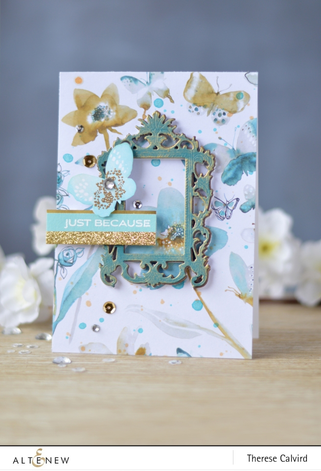 Altenew - New Day Card Kit - Shimmer Ink Sprays Lostinpaper (card video) 1 copy
