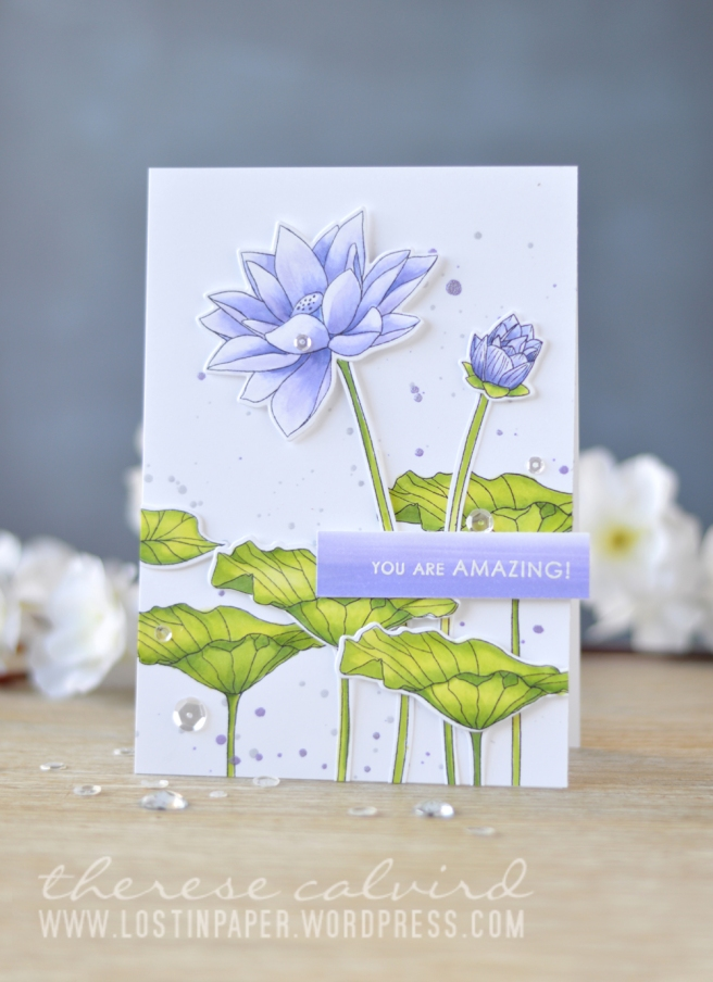 Lostinpaper - Altenew - Lotus - Sentiments & Quotes (card video) 1