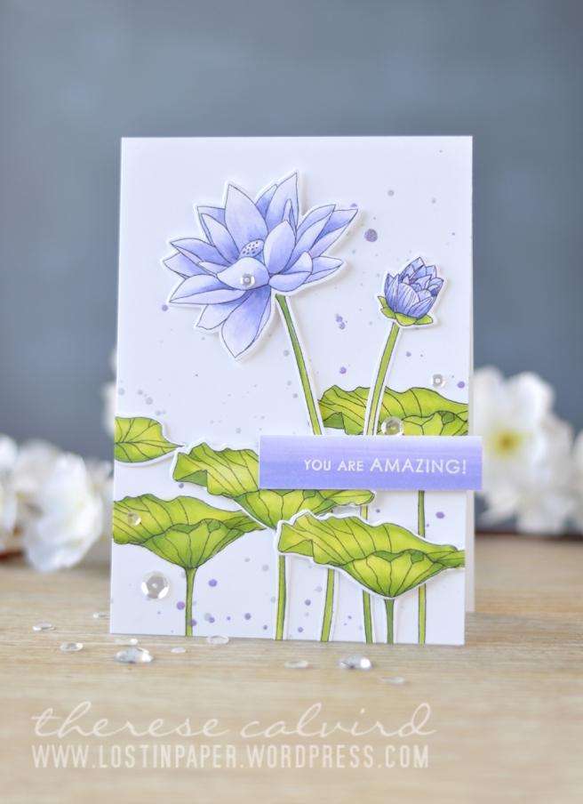 Lostinpaper - Altenew - Lotus - Sentiments & Quotes (card video) 1