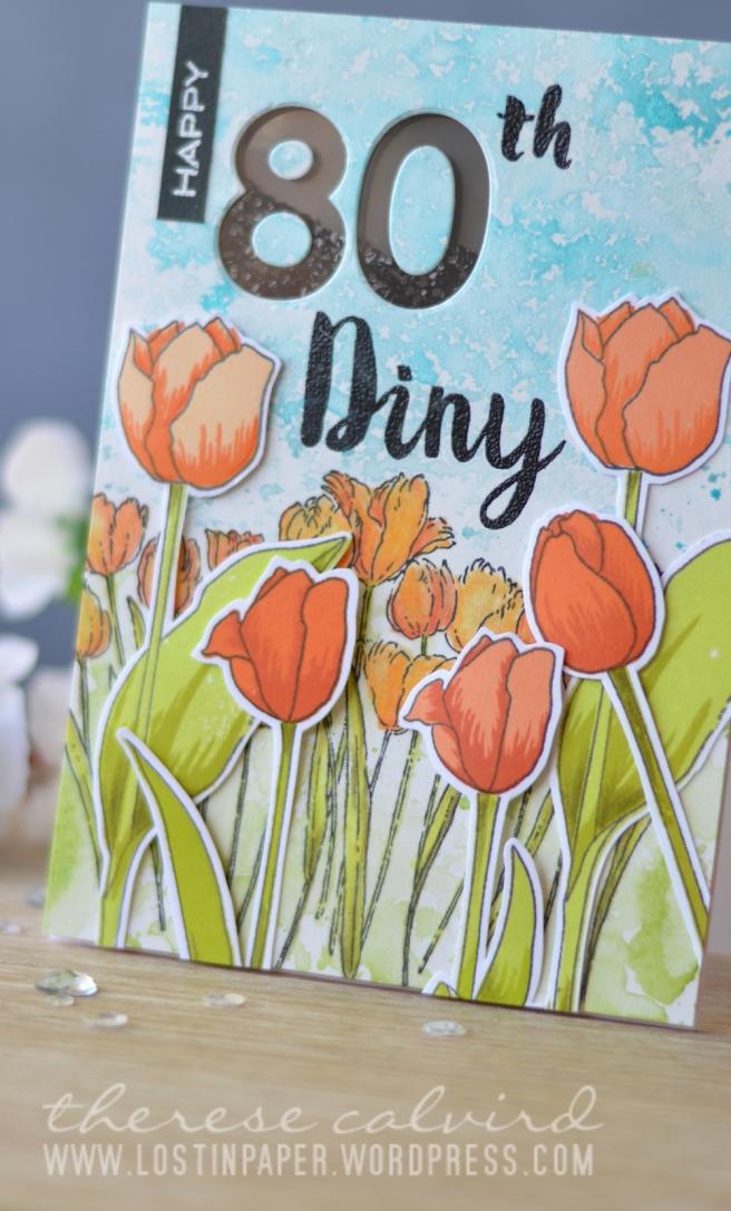 Lostinpaper - Altenew - Penny Black (tulip card) 1