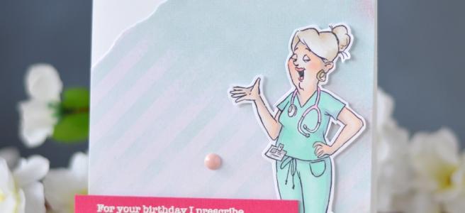 Lostinpaper - Art Impressions - Proud Nurse Set (card video) 1