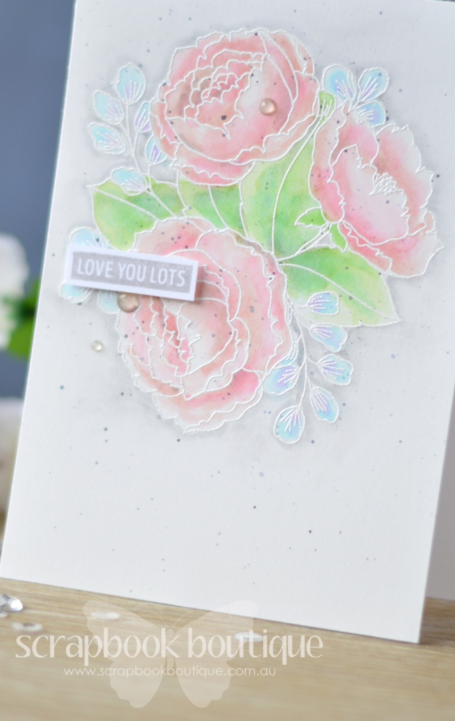 Lostinpaper - Mama Elephant - Organic Blooms (card) 1