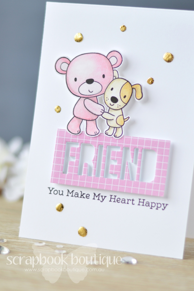 Lostinpaper My Favorite Things - Friends Furever - Words for Friends (card) 1