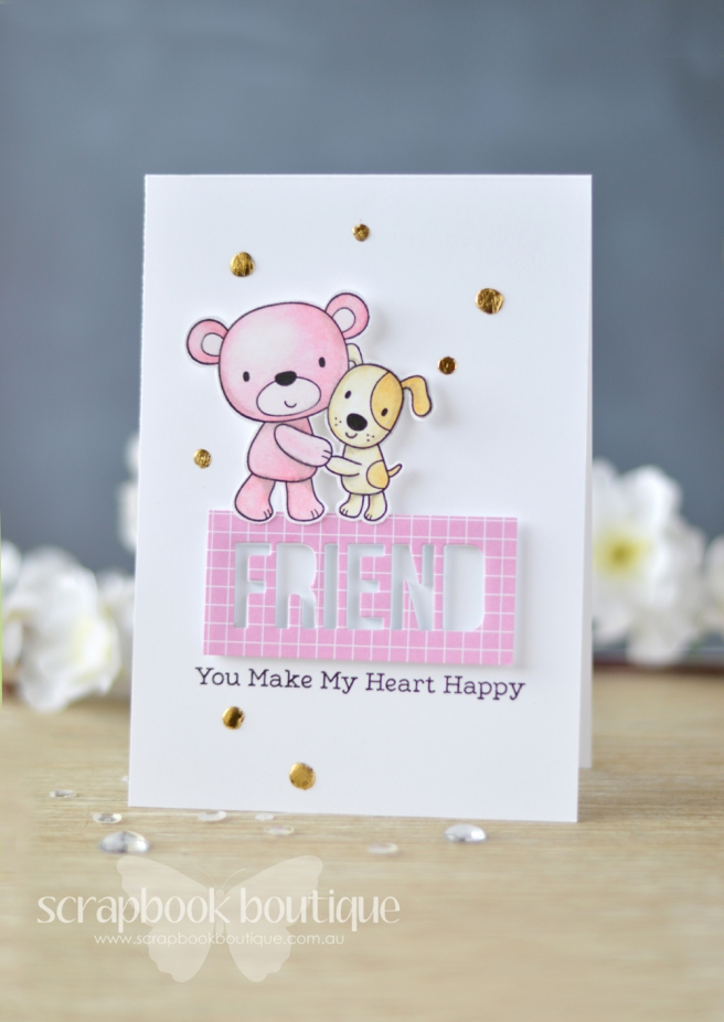 Lostinpaper My Favorite Things - Friends Furever - Words for Friends (card) 2