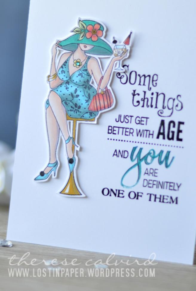 Lostinpaper - Penny Black - Fun Time Girls - Birthday Love (card) 1