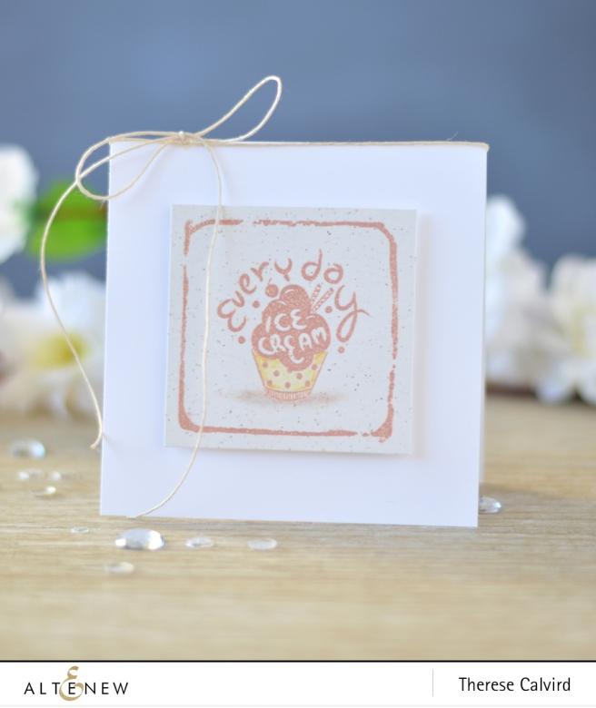 Altenew - Ice Cream - Watercolor Frames - Lostinpaper (card) 1 copy