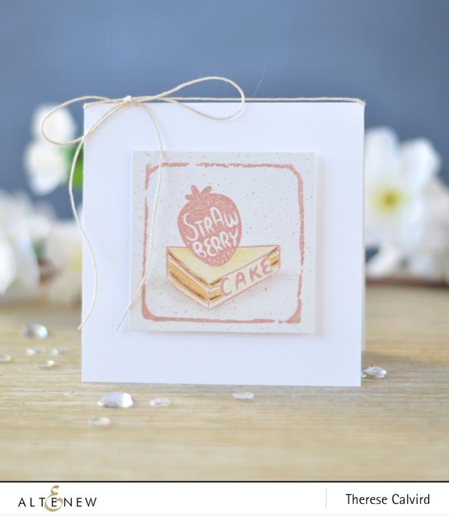 Altenew - Strawberry - Watercolor Frames - Lostinpaper (card) 1 copy