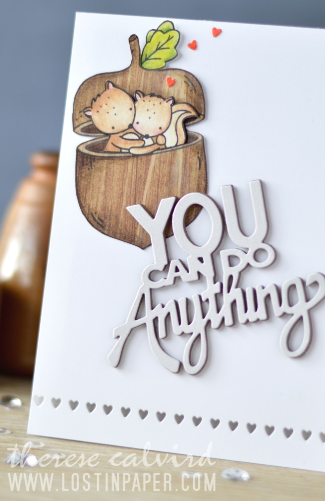 Lostinpaper - Neat & Tangled - You Can Do It - My Favorite Nut - Tiny Cuts (card) 1