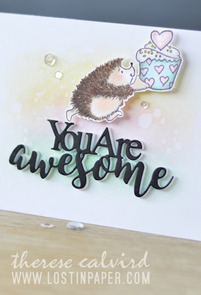 Lostinpaper - Penny Black - Furry Hugs - Awesome (card video) 1