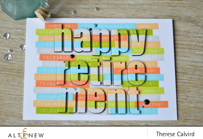 How to create a repeated sentiment background - Altenew card video