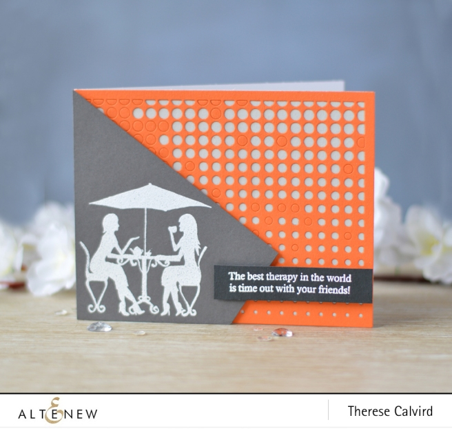 Altenew - Ladies Day Out - Halftone Cover Die - Lostinpaper (card video) 1 copy
