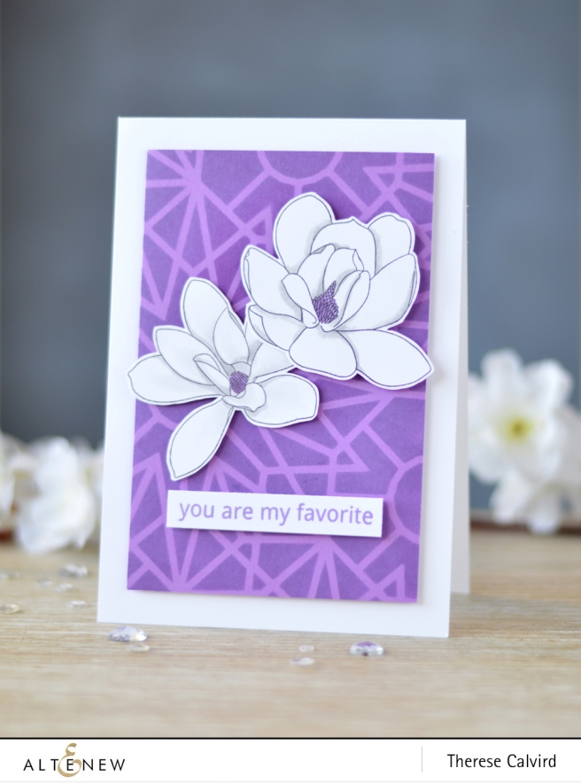 Altenew - Magnolias for Her - Quilled Elegance - Layered Kaleidoscope Stencil A - Lostinpaper (card) 1 copy