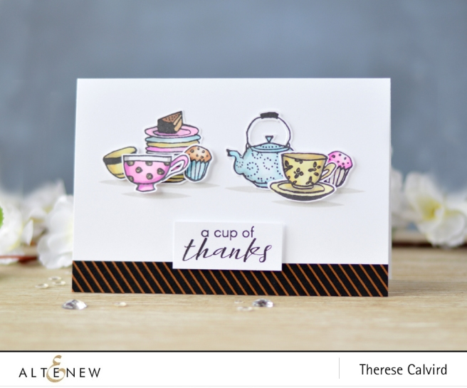Altenew - Tea Time - Vintage Tea Cup - Lostinpaper (card) 1 copy