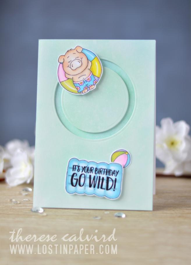 Lostinpaper - Gerda Steiner Designs - Pool Piggies - Go Wild (card video) 2