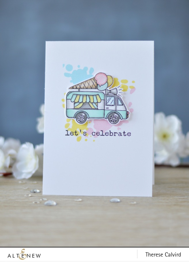 Altenew - Summer Swirls - A Splash of Color - Birthday Greetings - Lostinpaper (card video) 1 copy