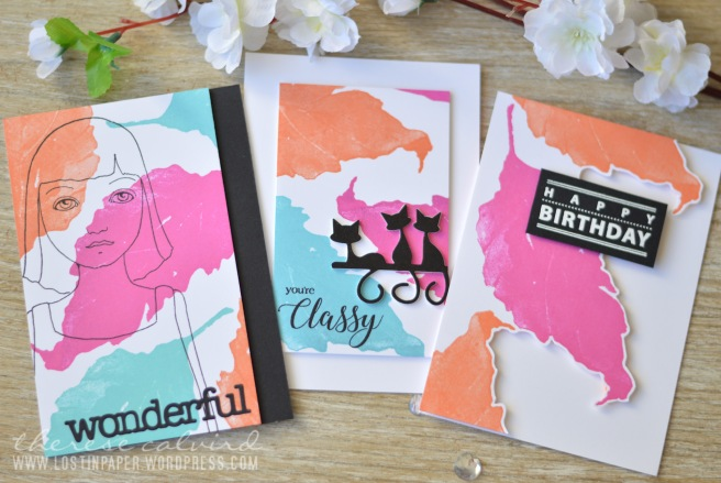 Lostinpaper - Penny Black - Gimme 5 - One Background - Five Cards 2