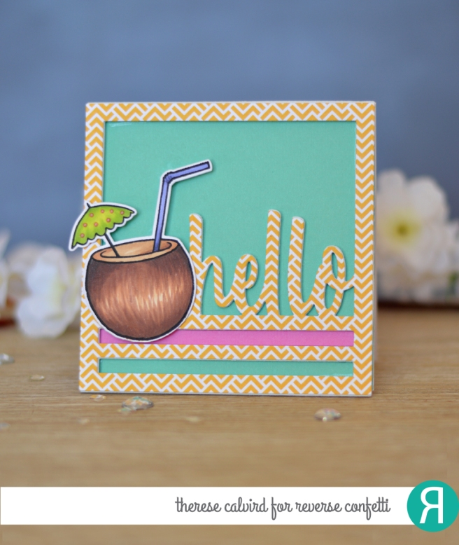 Lostinpaper - Reverse Confetti - Mahalo - Hello Square - (card video) 1 copy