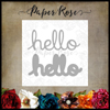 Paper Rose - Layered Hello