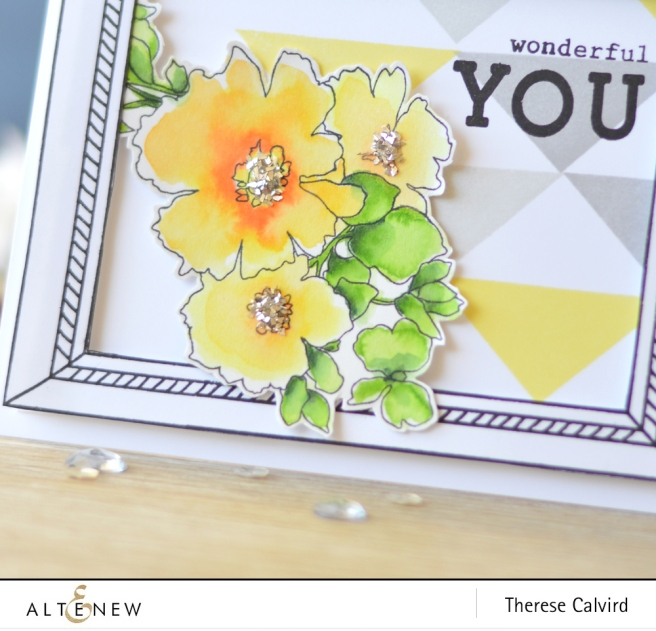 Altenew - Charmed - Framed - Thick and Thin Alphas - Simple Shapes XL - Sweet Friend - Lostinpaper (card) 1 copy