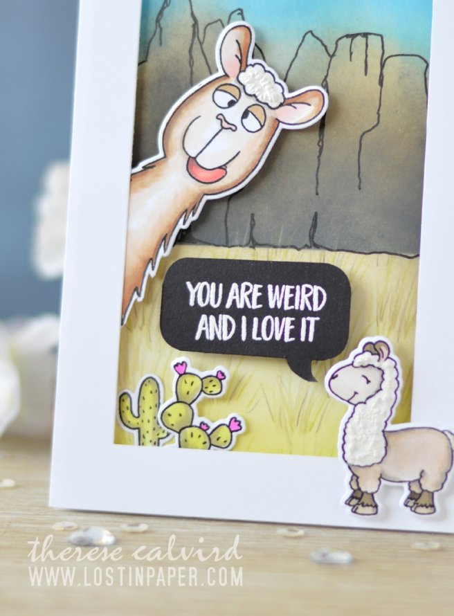 Lostinpaper - Gerda Steiner Designs - Llama Tell You (card video) 1