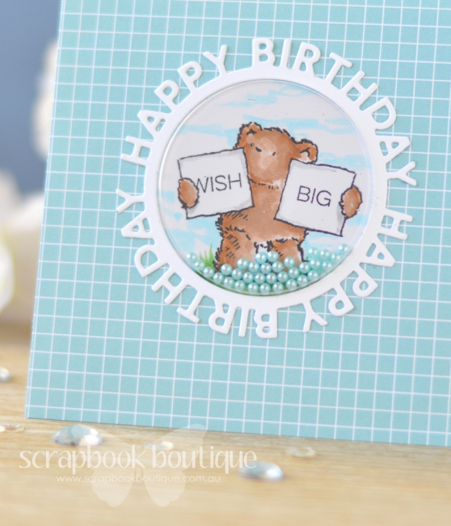 Lostinpaper - Penny Black - Birthday Bears - MFT - Happy Circle Die (card video) 1