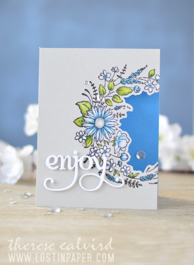 Lostinpaper - Penny Black - Flower Embrace - Hooray (card video) 1