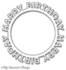 Happy Birthday Circle